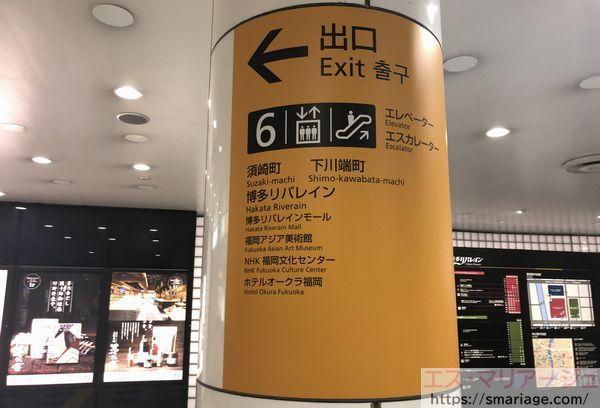 中洲川端駅6番出口