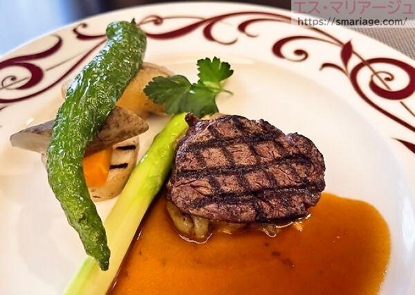 国産牛フィレ肉の網焼き