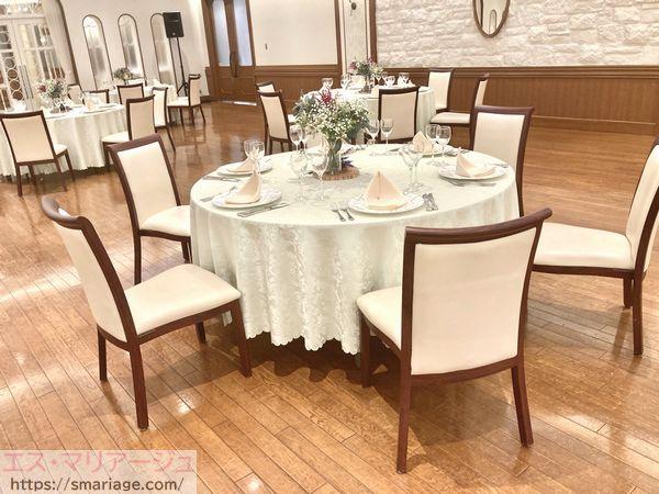 ゲスト用丸テーブル